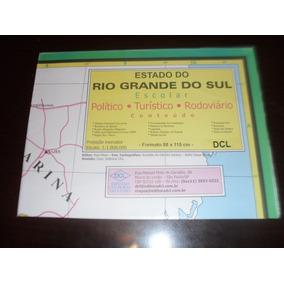 Mapa Rio Grande Do Sul Politico - Turistico - Rodoviario