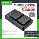 Cargador Y Baterias Camara Canon Profesional Rebel T6 Lp-e1