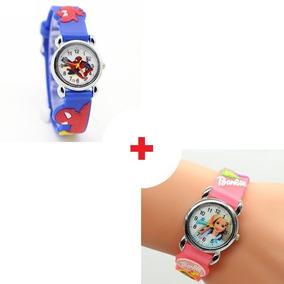 2 Relógio Infantil Analógico Feminino Barbie Promoção Barato