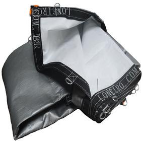 Super Lona Branca Prata 12x6 Pppe 500 Micra Com Argolas Inox