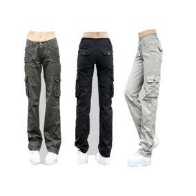 Pantalon Mujer Cargo Gabardina Alta Resistencia Hard Work baa399f5c000