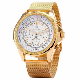 Relógio Masculino Mg.orkina Dourado