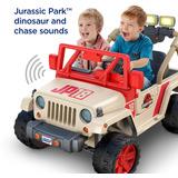 Montable Power Wheels Jurassic Park Jeep Wrangler 8km 12v