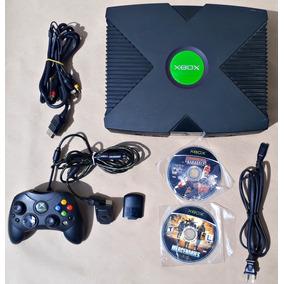 Console Xbox Clássico Controle Jogos Cabos Game Frete Grátis