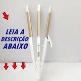 Prancha Cerâmica 3 Em 1 Profissional Alisa, Cacheia E Frisa.