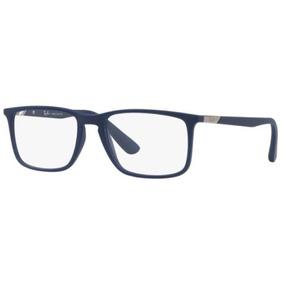 0cffe305895d3 Armação Oculos Grau Ray Ban Rb7158 5828 56 Azul Fosco