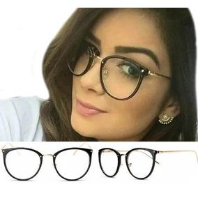 Óculos De Grau Feminino Armação Em Acetato Geek Vintage Gato