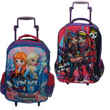 2 Mochilas Infantis Femininas, Monster High E Frozen