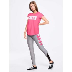 Leggings Pink | Rosa Con Gris | Victorias Secret | Original