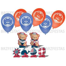 Balao Do Ursinho Marinheiro - Decoração de Festa no Mercado Livre Brasil 9e16778b99f90