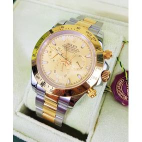 Reloj Rolex Daytona Acero Oro Esfera Dorada Automatico