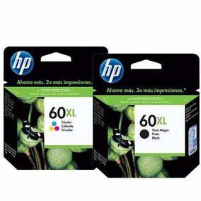 Kit Cartucho De Tinta Hp 60xl Black E 60xl Color Original
