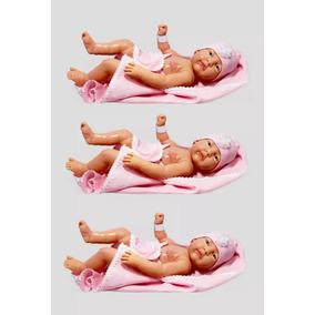 Kit Com 3 Bebês Anjo - Boneca Estilo Reborn