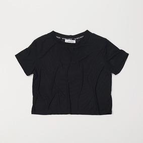 Crop Top Negro Mesh Transparente Tscbell16/13 Tienda Oficial