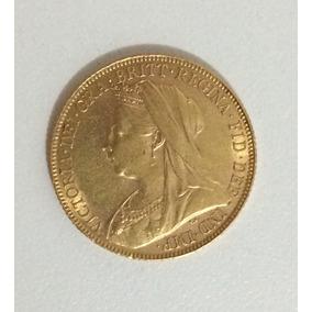 Moeda Ouro Rainha Victoria Ano 1900 - Raríssima