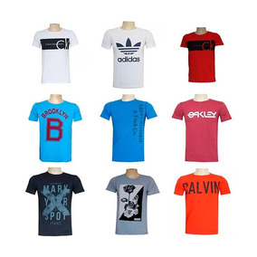 3a23e60b5f Kit 10 Camisetas Camisas Blusas Masculinas Marcas Importadas