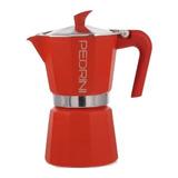 Cafetera Express Pedrini Aluminio Italiana 6 Pocillos Roja