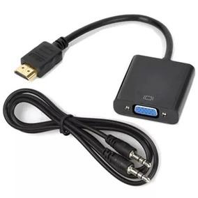 Convertidor Hdmi A Vga Monitor Laptop Ps3 Ps4 Xbox Con Audio
