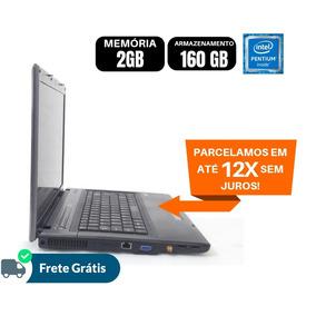 Notebook Pentium Dual Hd De 160gb Ram 2gb Usado E Barato