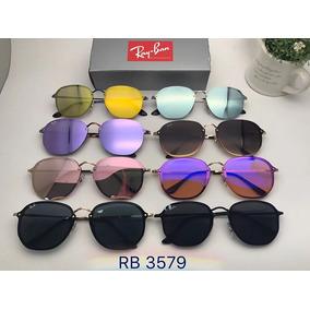 252f76ceb9764 Oculos De Sol Ray Ban Hexagonal Blaze Rb3579 Masculino Femin