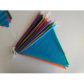 Tira Banderín En Plástico Liso Multicolor
