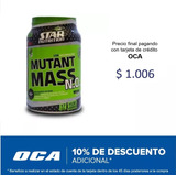 Star Nutrition Mutant Mass N.o 1.5kg - Cookies And Cream