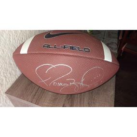 97abf555a344d Balon De Football Americano Nike Firmado Por Jerome Bettis