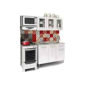 Cocina Gourmet Con Espacio Para Micro 180 Rojo Y Blanco Këss