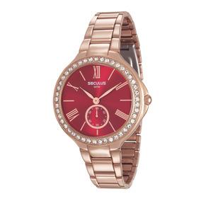 Relógio Feminino Seculus 48086lpsvrs2 Promo Verão