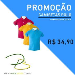 Camisa Polo Camiseta Personalizada Com Bordado Gratis
