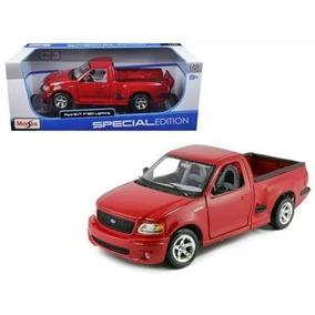 Miniatura Ford F150 Svt Lightning Vermelha 1/21 Maisto