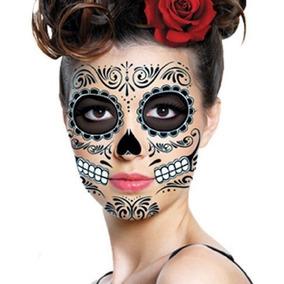 Tatuaje Halloween Día De Muertos Hombre Y Mujer