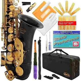 Saxofon Con Kit Mantenimiento Instrumento Musical Lazarro