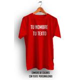 Camisa Con Texto Personalizada En Oferta Negro