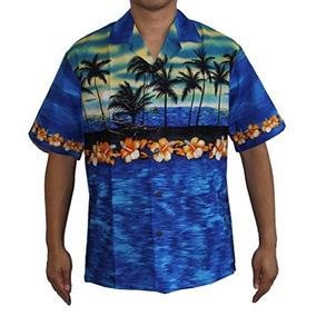 364c7882819bf Camiseta Hawaiana Con Aloha De Sunset Island Para Hombre L