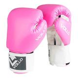 Luva De Boxe Combat 8 Oz Rosa Vollo Vfg303-8