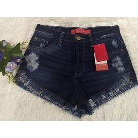 Shorts Jeans Feminino, Curto, Desfiado, Revanche, Tamanho 38