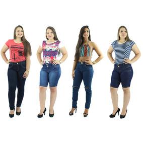 Promoção 2 Calças Femininas + 2 Bermudas Jeans + Frete