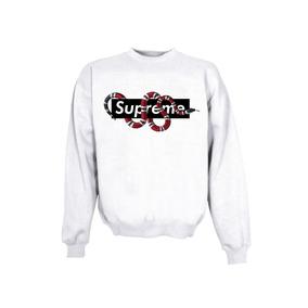 Sudadera Supreme Negra Con Gorro - Sudaderas y Hoodies en Mercado ... 75282b47e8c