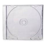 10 Estuches Caja Cd Dvd Jewel 10.4mm Charola Transparente
