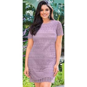 Vestido Lavanda De Crochet Curvy Line Cklass 998-10