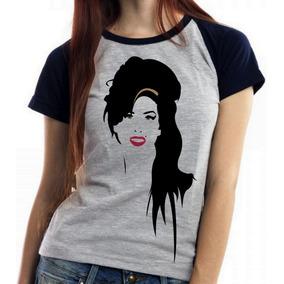 Baby Look Blusa Feminina Amy Winehouse Sorriso Rock Banda