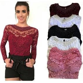 b5e9e94cca Body De Renda Vinho - Camisetas e Blusas para Feminino no Mercado ...