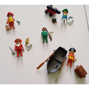 Lote Piratas Playmobil Originais Trol Geobra Antigo
