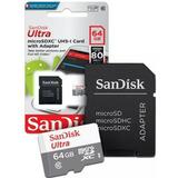 Cartao De Memoria 64gb Ultra Microsd Xc Novo 100% Original