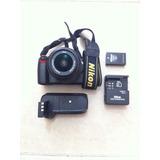 Cámara Nikon D-60 Reflex