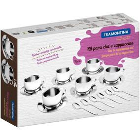 Jogo Para Chá E Cappuccino Inox 18 Peças - Tramontina