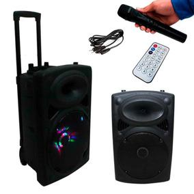 Caixa De Som Bluetooth Amplificada Bivolt Rádio Microfone
