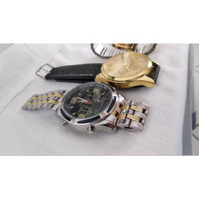 Kit C/ 3 Relógios De Luxo