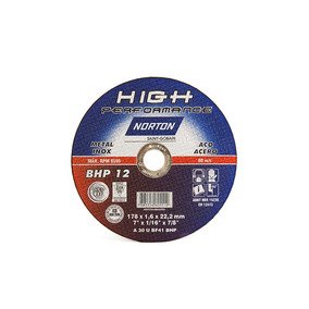 Disco Corte Inox 7 X 1/16 X 7/8 Bhp12 Cjax25 Norton
